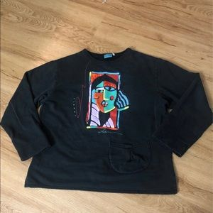 90's Vintage Two Lips Crewneck For Women